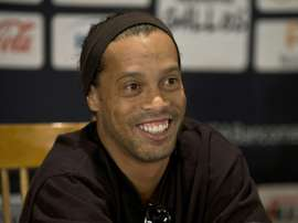 Brazilian footballer Ronaldinho, pictured on September 12, 2014, joins Rio side Fluminense, the fourth Brazilian club of his widely-travelled career