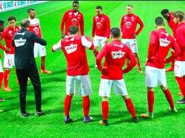 Les joueurs de Brest à l'entraînement. StadeBrestois29