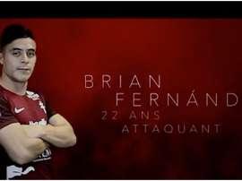 Brian Fernández vai jogar na Ligue 1 pela primeira vez na sua carreira. FCMetz