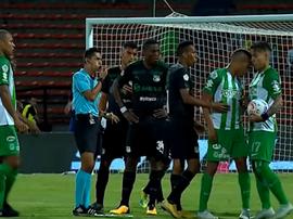 Briga dos jogadores do Atlético Nacional. Captura