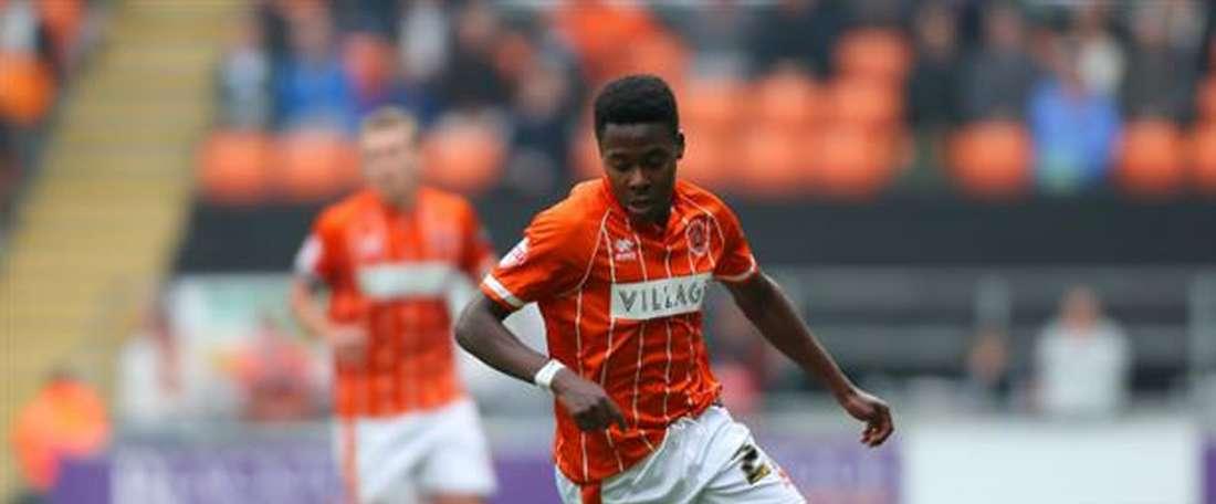 El Blackpool se refuerza su ataque con un nuevo delantero. BlackpoolFC