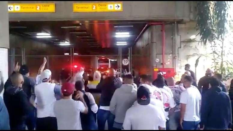 Tensión en Sao Paulo: bronca antes del debut en el Brasileirao. Twitter/T_Independente