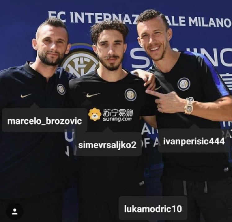 Perisic, llamando a Modric. Instagram/IvanPerisic444