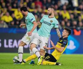 L'Inter cade in Germania. Twitter/BorussiaDortmund