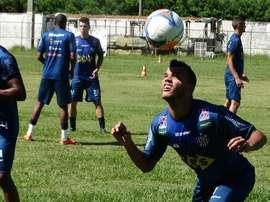 Bruno Arrabal, en un entrenamiento. Twitter