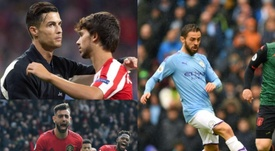 Bruno Fernandes, Bernardo Silva, João Félix e Cristiano são os portugueses mais valiosos. EFE/AFP