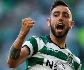 Bruno Fernades foi o autor do golo da vitória. Twitter
