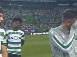Bruno Fernandes chorou naquela que deverá ser a sua despedida de Alvalade. Captura