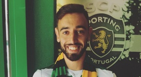 Bruno Fernandes re-signed for the Portuguese side.  Twitter/SCP