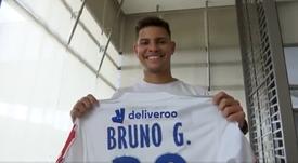 Bruno Guimarães é apresentado no Lyon. Captura/OL