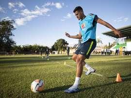 Bruno Guimarães será o capitão na estreia contra o Peru. Lucas Figueiredo/CBF