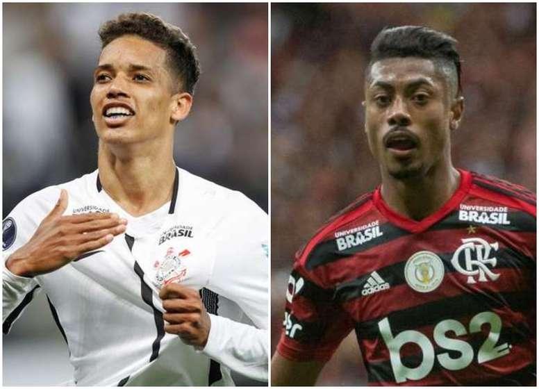 Brasileirão: Prováveis escalações de Flamengo e Corinthians. Montagem/Goal/EFE