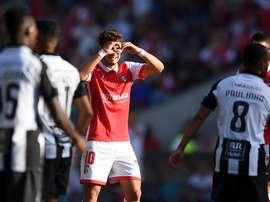 Foi o 'golão' de Xadas que trouxe o Braga de volta ao jogo. Twitter/Maisfutebol