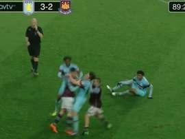 Brutal pelea entre los filiales del Aston Villa y West Ham. AVTV