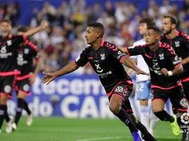 Bryan Acosta marcó este domingo ante el Real Zaragoza. LaLiga