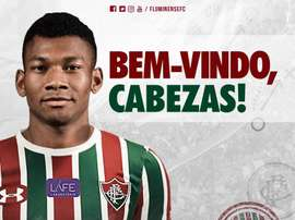 Bryan Cabezas no Fluminense. Twitter @FluminenseFC
