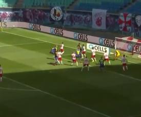 Leipzig perd ses moyens et laisse Fribourg ouvrir le score. Capture/Bundesliga