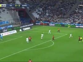 Niang ouvre le score après un beau travail de Da Silva. Capture/Twitter