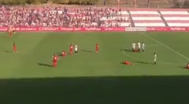 Calambre colectivo de los juveniles del Spartak en Sevilla en la UEFA Youth League. Captura