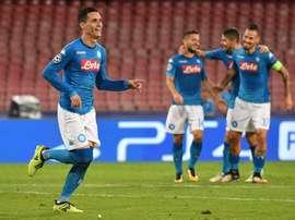Callejón fechou o marcador. Napoli