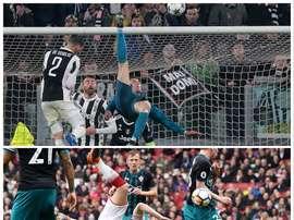 Chambers didn't quite manage to emulate Ronaldo. Twitter/CalumChambers95