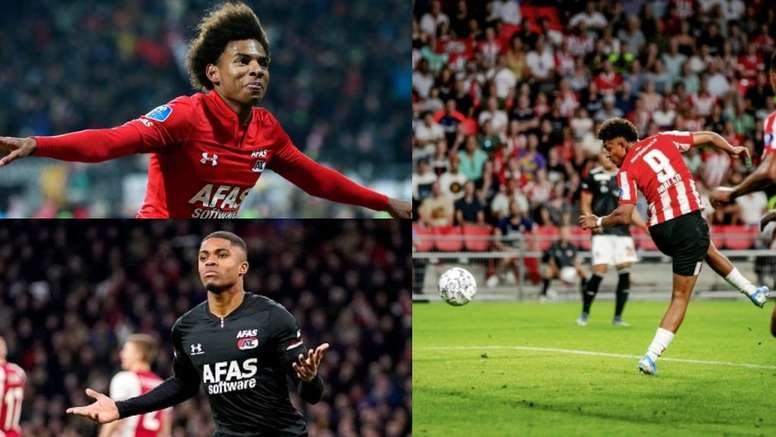 Le Barça suit trois attaquants néerlandais. AFP - AZAlkmaar