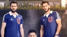 Una camiseta histórica para la 'U'. UniversidadChile