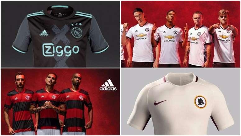 Maillots de Ajax, Manchester United, Corinthians et Roma. BeSoccer