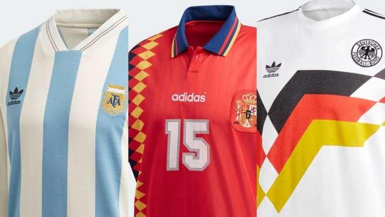 ff95b5603acd5 Adidas sacará a la venta estas camisetas retro de selecciones - BeSoccer