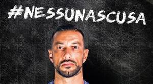 Ninguna excusa. Twitter/UCSampdoria