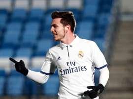 El delantero de 20 años firmó el primer tanto del partido. RealMadrid