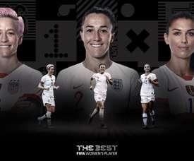 Les nominées pour le prix The Best de la meilleure joueuse. FIFA