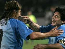 Caniggia habló de Maradona y de Italia 90. AFP
