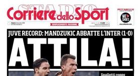 Capa do jornal 'Corriere dello Sport' de 08-12-18. Corriere dello Sport