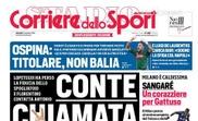 Corriere dello Sport traz Conte e o Real na sua capa. Corriere dello Sport