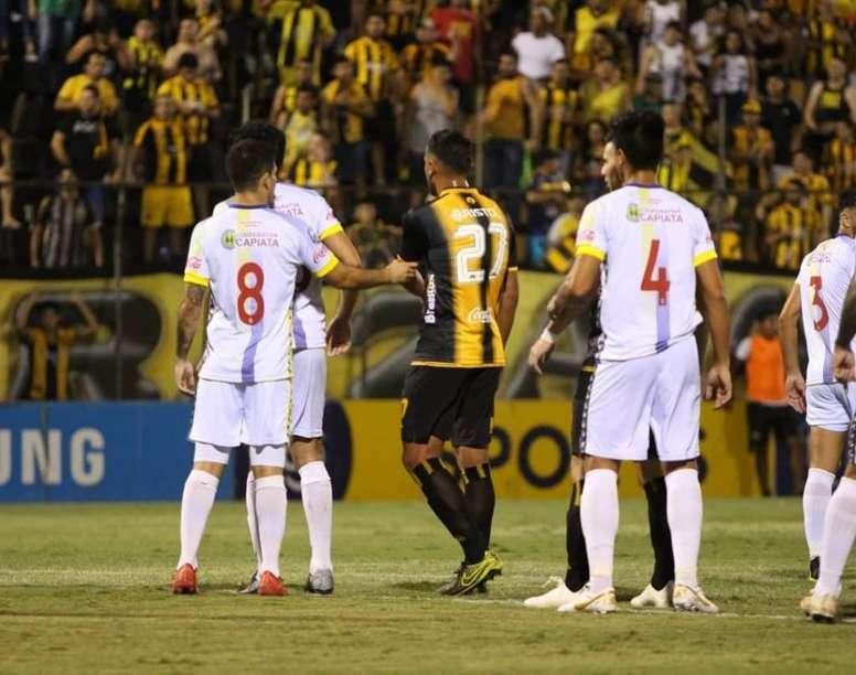 Deportivo Capiatá sacó de la cima a Guaraní.  Twitter/ClubGuarani