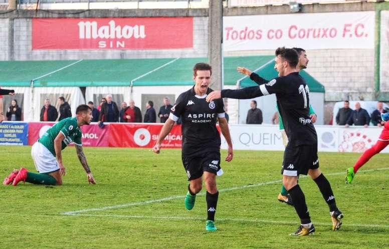 Eneko Capilla anotó el gol de la victoria. CulturalLeonesa