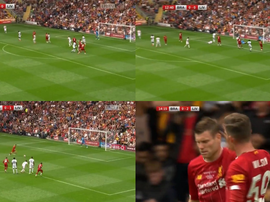 Milner scored twice in two minutes in pre-season. Captura/LFCTV