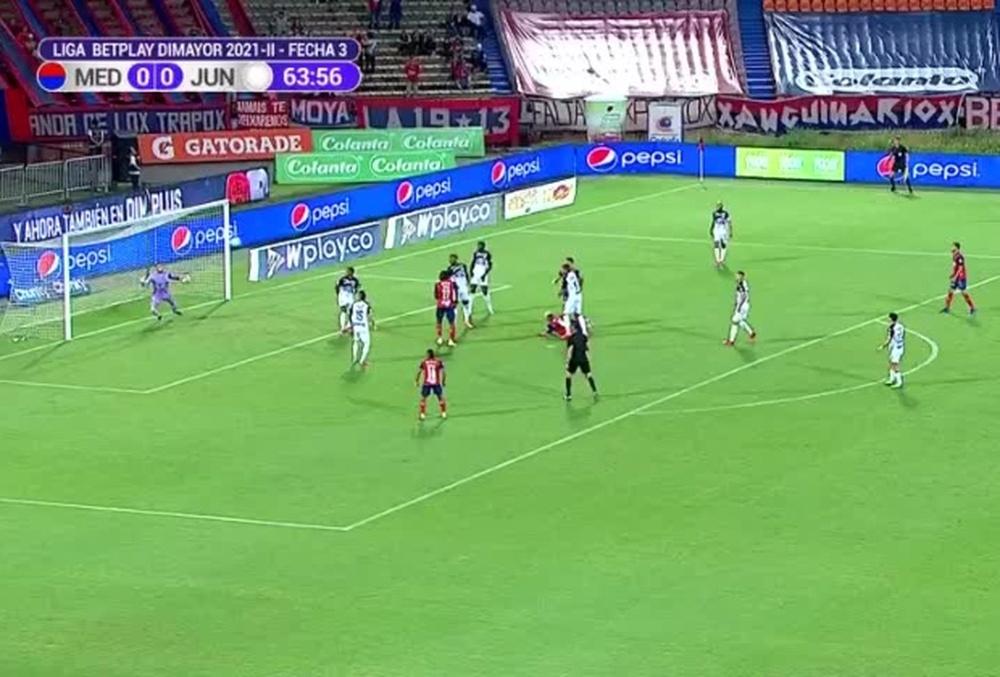 Independiente Medellín y Junior empataron a cero. Captura/WinSports