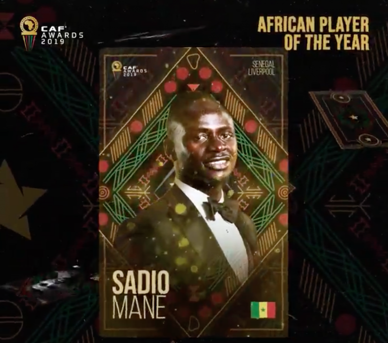 Sadio Mané remporte le Ballon d'or africain. AFP