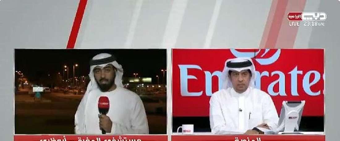 Desde el país siguen pendientes de su evolución. Captura/DubaiSportsTV