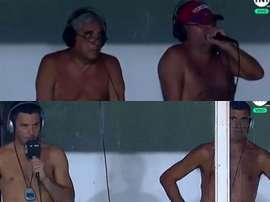 Cena curiosa na Superliga Argentina. Captura/TNTSports