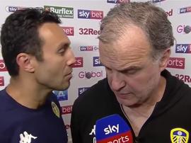 Bielsa en interview après un match de Leeds. Sky Sports