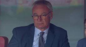 Captura de Claudio Ranieri, en el Emirates durante el Arsenal-West Ham. Twitter/Captura
