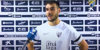 Dani Martín debutó con victoria en el Málaga. YouTube/MálagaCF