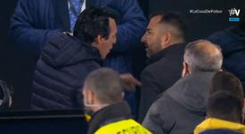 La acalorada discusión entre Emery y Diego Martínez que terminó con la Policía. Captura/Vamos