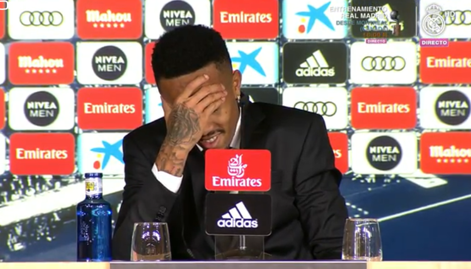Militao left his opening press conference feeling dizzy