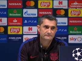 Valverde a expliqué l'absence de Messi. Capture/BarçaTV