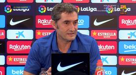 Barcelona's Ernesto Valverde will not be distracted by rumours surrounding Neymar. GOAL