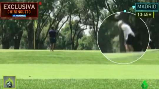 Bale gioca a golf. Captura/LaSexta